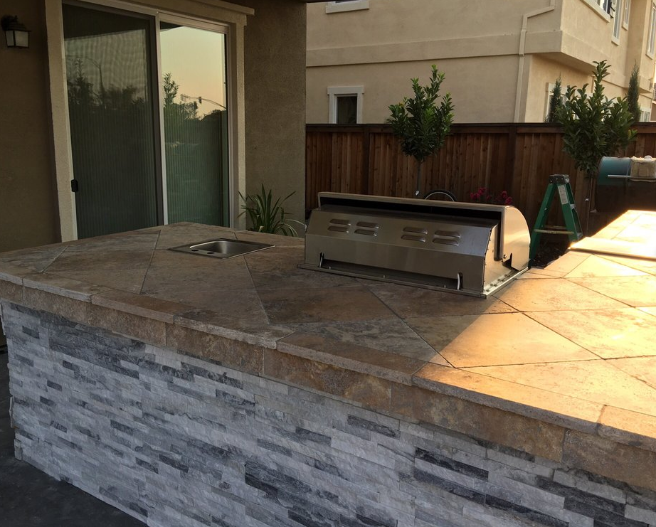An image of finished concrete countertops in Diamond Bar.