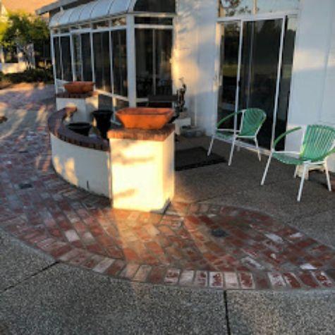 this image shows brick masonry diamond bar
