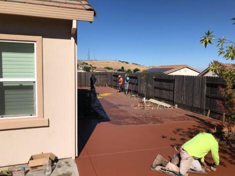 this image shows colored concrete driveway diamond bar concrete