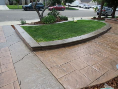 this image shows concrete driveway diamond bar