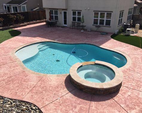 this image shows pool deck diamond bar
