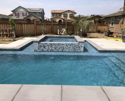 this image shows pool deck diamond bar concrete
