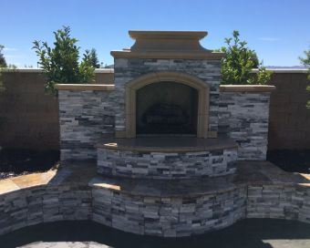 An image of outdoor fireplace in Diamond Bar.