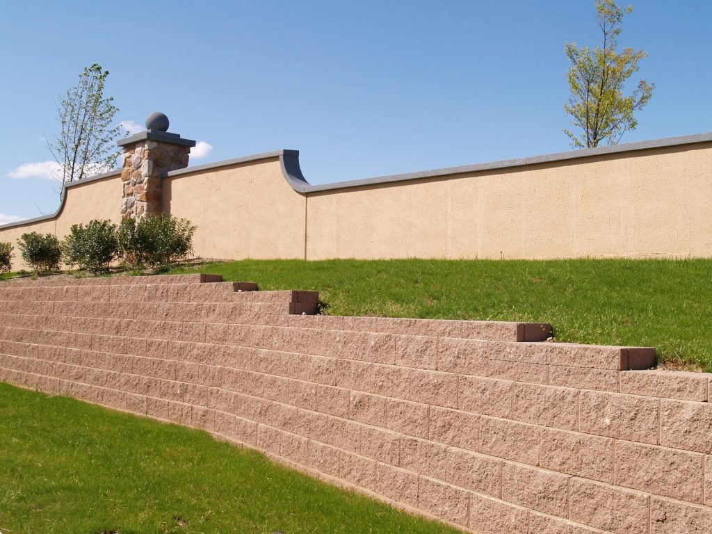 A picture of block wall in Diamond Bar.