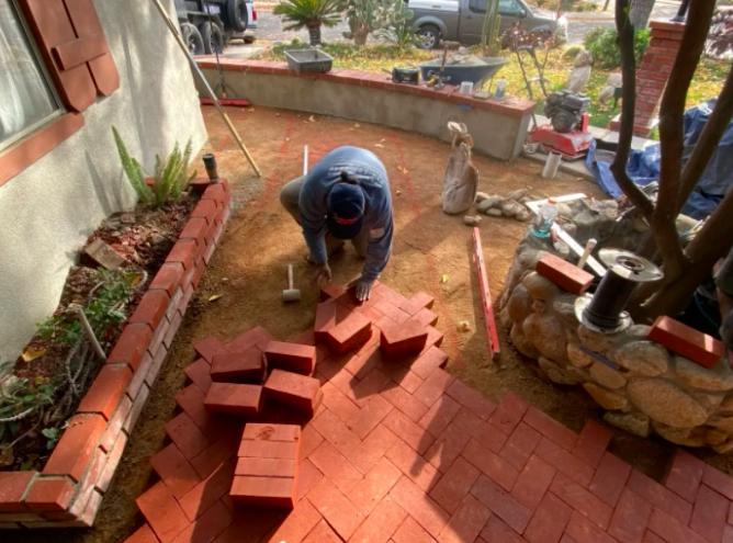 this image shows brick masonry in Diamond Bar, California