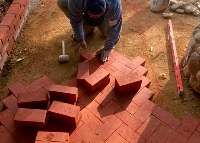 this image shows brick pavers in Diamond Bar, California