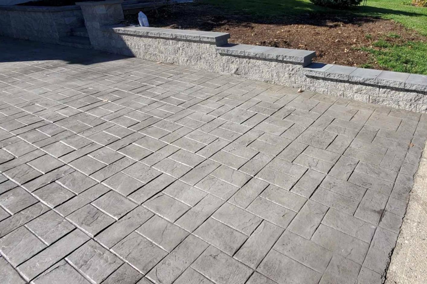 this image shows concrete finishing in Diamond Bar, California