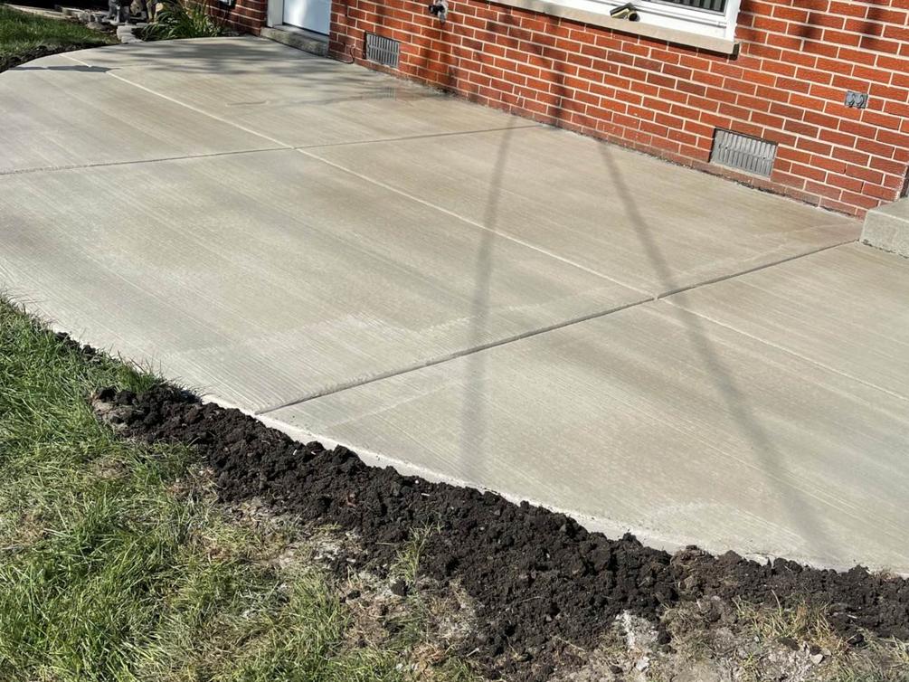 this image shows concrete patio in Diamond Bar, California