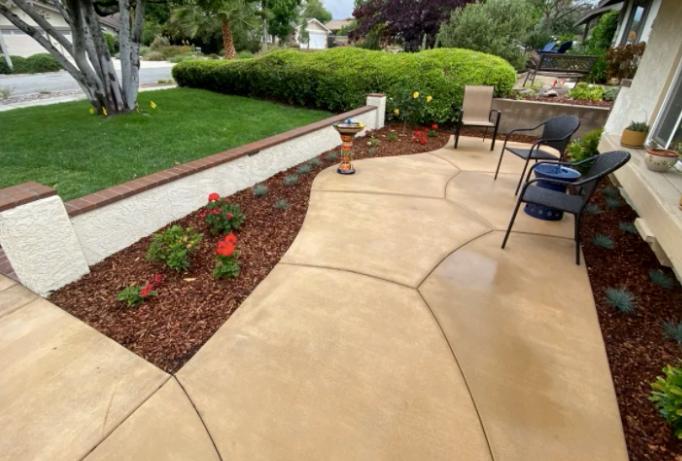 this image shows patio in Diamond Bar, California
