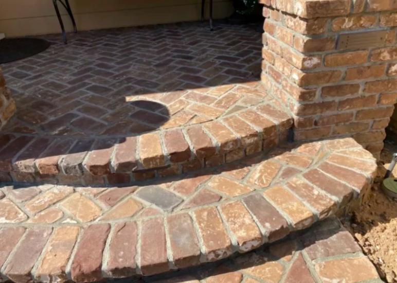 this image shows stone pavers in Diamond Bar, California